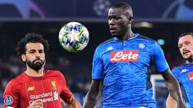Pertandingan Liga Champions 2019/2020 antara Napoli kontra Liverpool