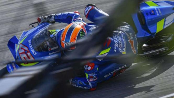 Pembalap Suzuki Ecstar, Alex Rins.