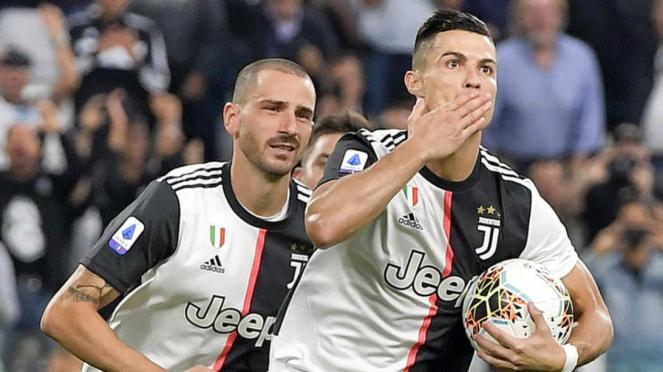 Cristiano Ronaldo cetak gol kemenangan Juventus