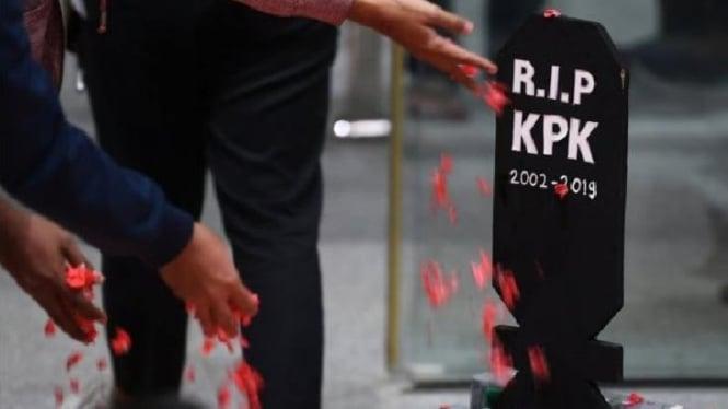 Ilustrasi KPK telah lumpuh (Image: BBC)