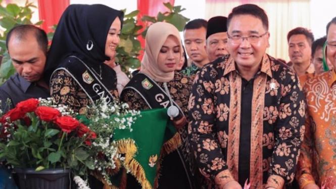 Menteri Desa, PDT dan Transmigrasi, Eko Putro Sandjojo membuka acara Gelar  Teknologi Tepat Guna (TTG) Nasional XXI 2019 di  Pusat Sarana Olahraga, Pantai Panjang Bengkulu pada Minggu (22/09/19).