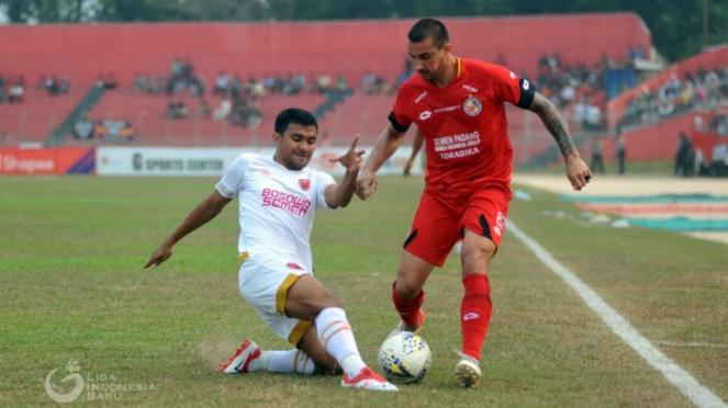 Duel Semen Padang FC vs PSM Makassar di Liga 1 2019.
