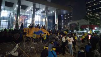 Massa PMII di depan gedung KPK. (Foto ilustrasi).