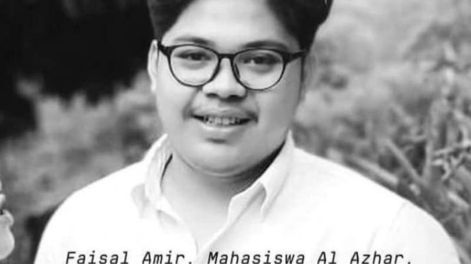 Mahasiswa Al Azhar Indonesia, Faisal Amir yang sempat kritis