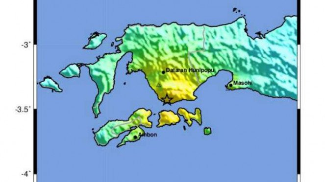 Gempa guncang Ambon, Kamis, 26 September 2019.