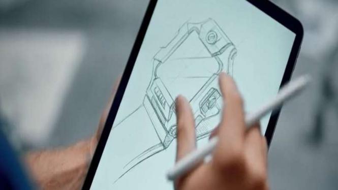 Sketsa jam tangan baru imoo Watch Phone terbaru yang akan meluncur di Indonesia