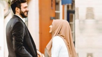 Ilustrasi suami dan istri.