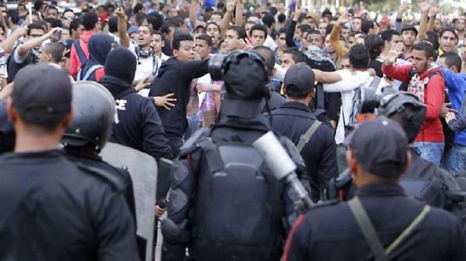 Unjuk rasa di Mesir.