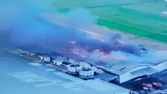 Gudang kapas milik Sritex yang terbakar