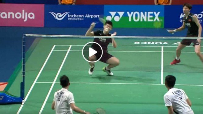Video Smes Gila Fajar/Rian Hantam Muka Duo China di Korea Open