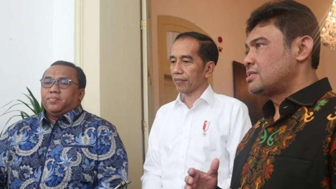 Andi Gani (kiri) saat bertemu Presiden Joko Widodo, di Istana Bogor.