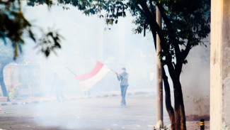 Massa Pelajar Demonstrasi Rusuh di Palmerah Tolak RKUHP dan UU KPK