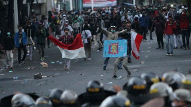 Aksi demo pelajar di Jakarta beberapa waktu lalu. (Foto ilustrasi)