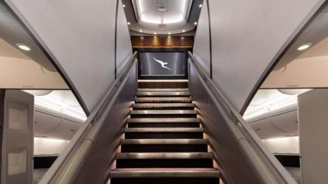 Qantas A380 on-board lounge