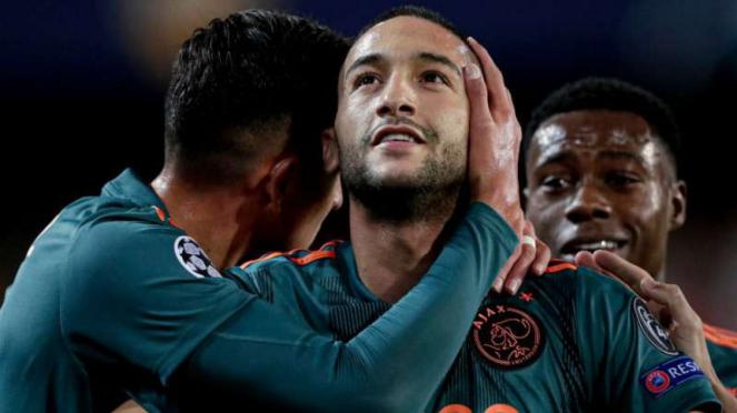 Gelandang Ajax Amsterdam, Hakim Ziyech.