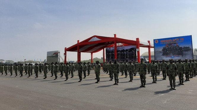 Gladiresik HUT TNI ke 74 di Lanud Halim Perdanakusumah, Jakarta