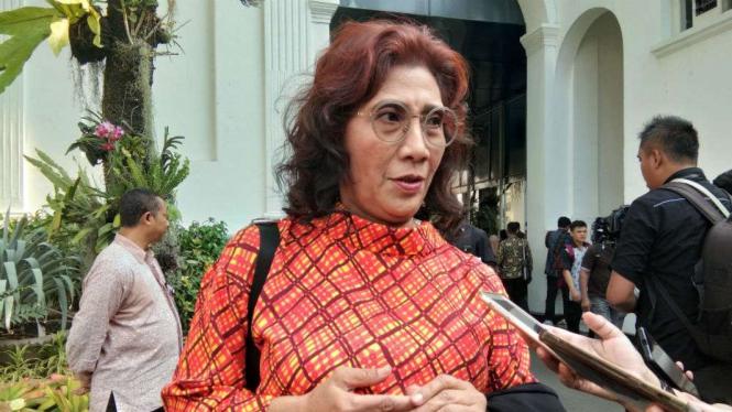 Mantan Menteri Kelautan dan Perikanan, Susi Pudjiastuti.