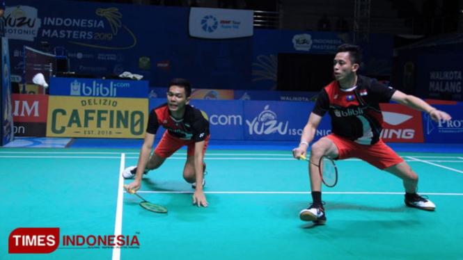 Unggulan Pertama, Fajar Alfian/Rian Ardianto Tumbang