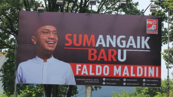 Baliho Faldo Maldini di Sumatera Barat