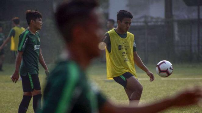 Latihan Timnas Indonesia U-23.