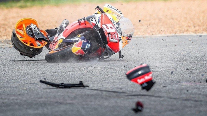Motor pembalap Repsol Honda, Marc Marquez