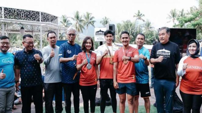 Peluncuran Medali dan Jersey Borobudur Marathon