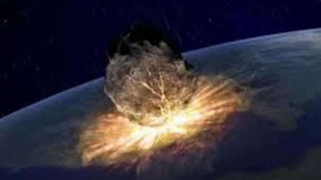 Ilustrasi Ledak Asteroid di Bumi
