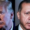 Presiden AS Donald Trump (kiri) dan Presiden Turki Recep Tayyip Erdogan (kanan). - AFP/Getty Images