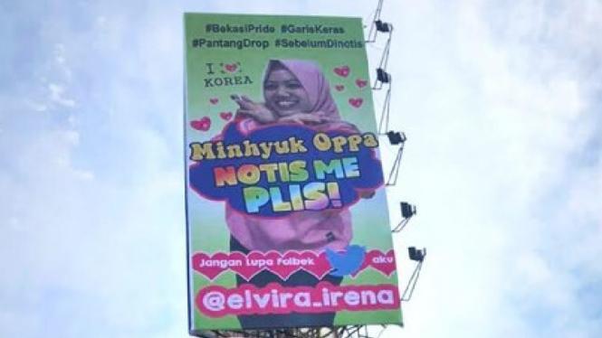 K-Popers di Bekasi Pasang Billboard