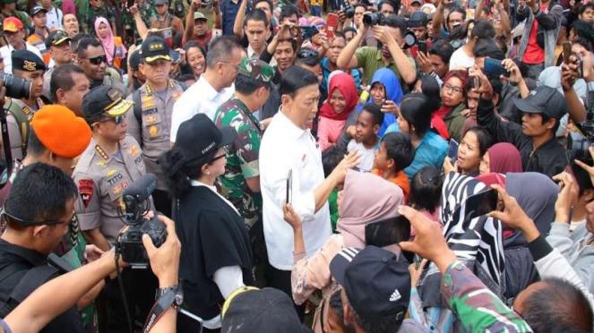 Menkopolhukam Wiranto bersama Kapolri dan Panglima TNI di Wamena