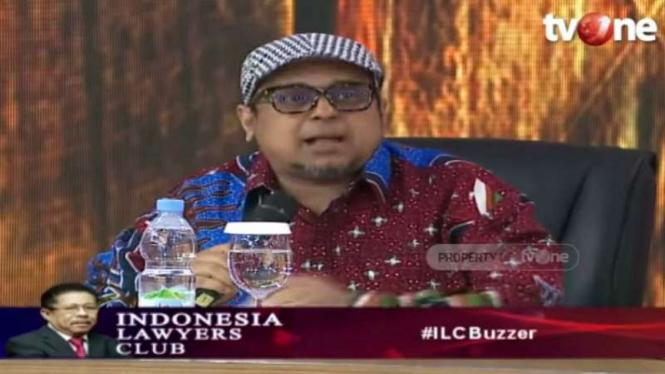 Ustaz Haikal Hassan atau Babe Haikal dalam program ILC tvOne.