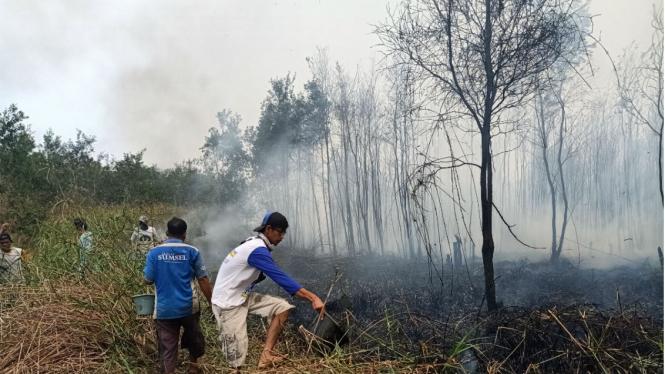 Kabut asap di Palembang, Kamis 10 Oktober 2019
