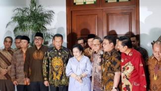 Pimpinan MPR berkunjung ke rumah Megawati di Menteng