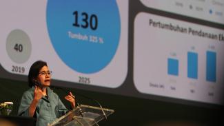 Pertumbuhan Sektor Ekonomi Digital Indonesia. Sri Mulyani. Tokopedia