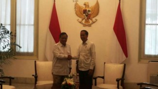 Jokowi dan Prabowo di Istana Merdeka