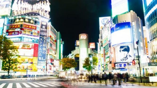 Ilustrasi Tokyo, Jepang.