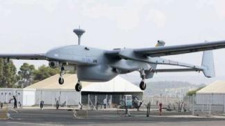 Drone Heron 1 buatan Israel milik Singapura.