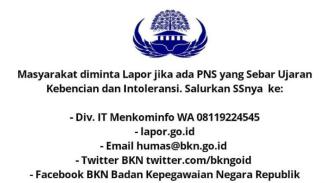Viral pengumuman dari BKN bahwa PNS akan dipecat jika menulis ujaran kebencian. Ternyata pengumuman itu hoax.