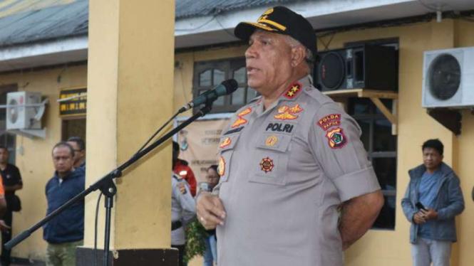 Kapolda Papua Inspektur Jenderal Polisi Paulus Waterpauw, di Papua.