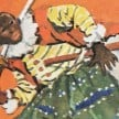 Yasuke depicted in a Japanese children`s book - Copyright free