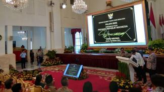 Presiden Joko Widodo resmikan Palapa Ring
