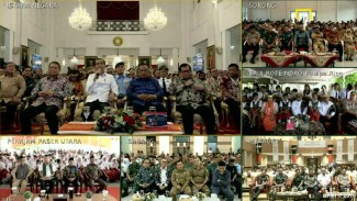 Video call Jokowi saat peresmian Palapa Ring