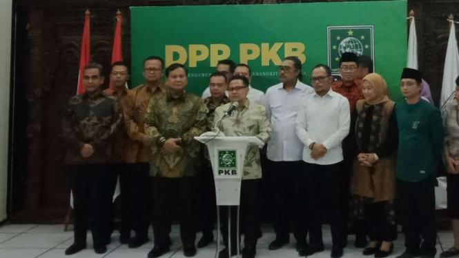 Pertemuan Prabowo dan Muhaimin Iskandar.