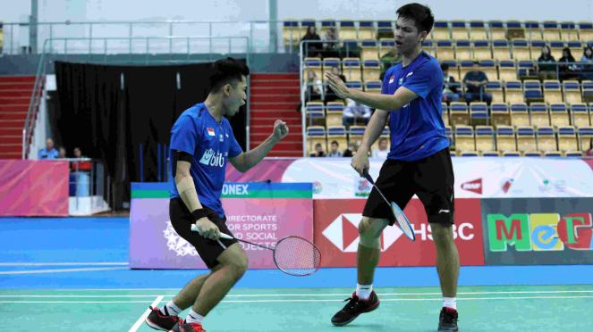 Ganda putra junior Indonesia, Leo Rolly Carnando/Daniel Marthin
