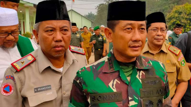 Komandan Korem 044 Garuda Dempo Kolonel Arhanud Sonny Septiono,