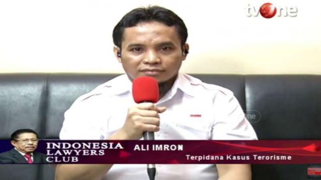 Terpidana kasus terorisme, Ali Imron dalam program ILC tvOne.