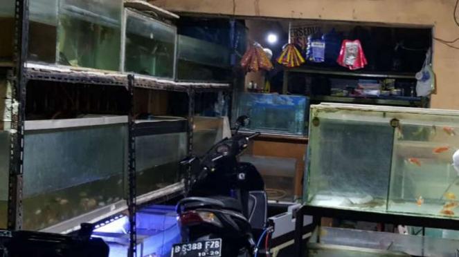 Rumah pelaku terduga teroris di Bekasi, Jawa Barat.
