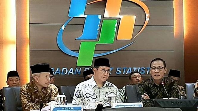 Kepala BPS Suhariyanto merilis hasil survei Indeks Kepuasan Jemaah Haji 2019