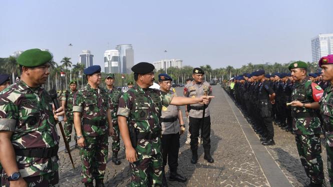 Apel Gelar Pasukan Pengamanan Pelantikan Presiden