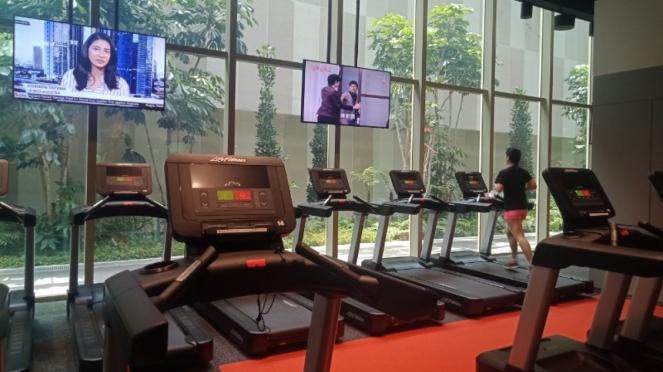 Ruang Fitness di kantor Shopee Singapura